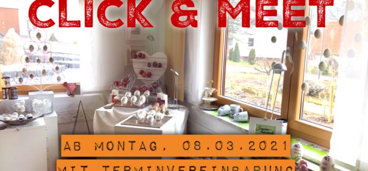 Click & Meet ab Montag, 08.3.2021